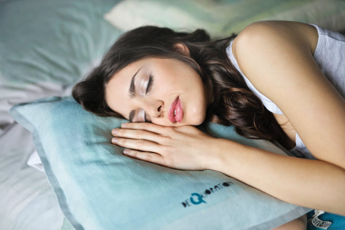 Close-Up Photography of Woman Sleeping