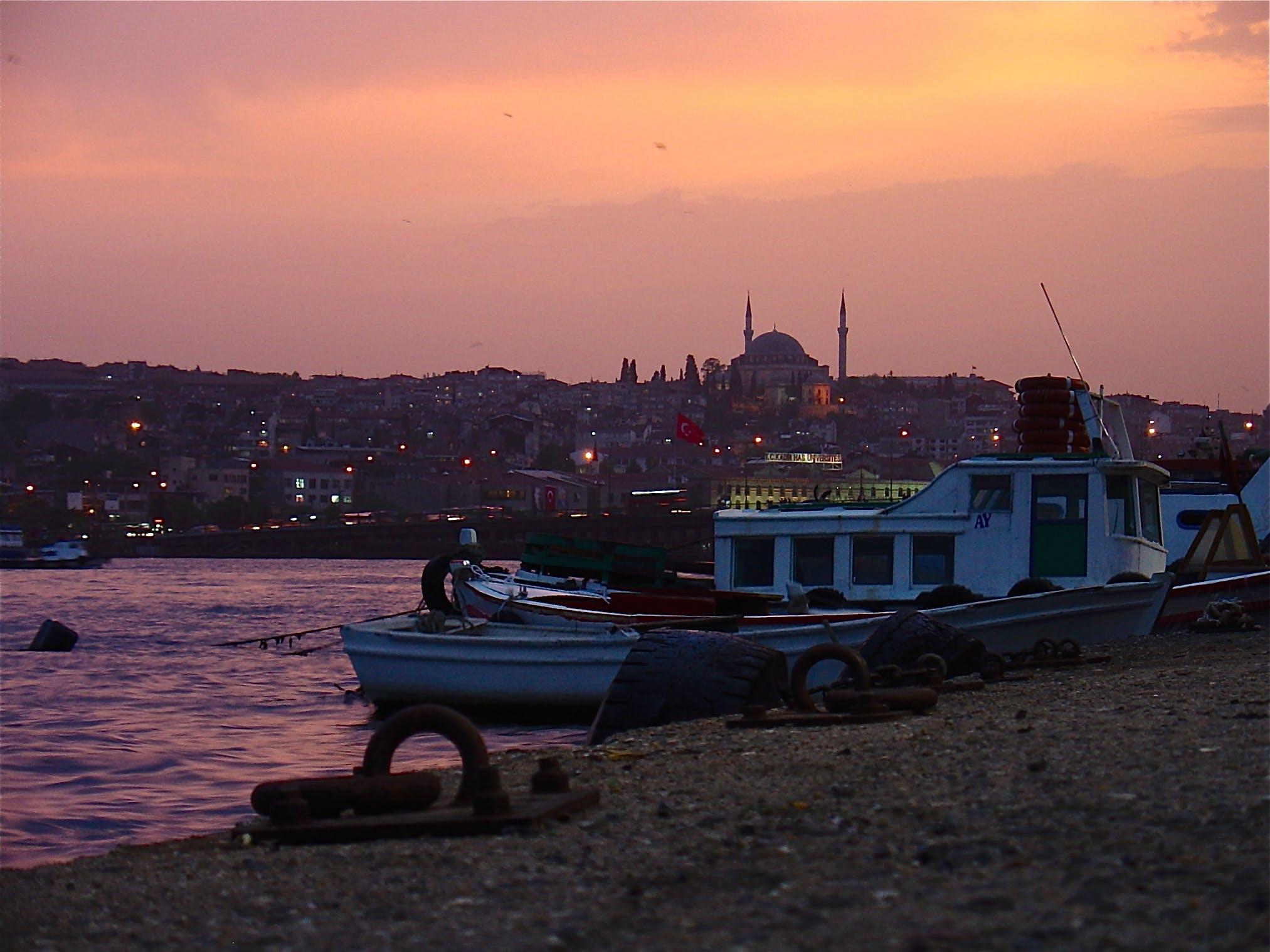 Free stock photo of bosforo, sea, sunset, turkey
