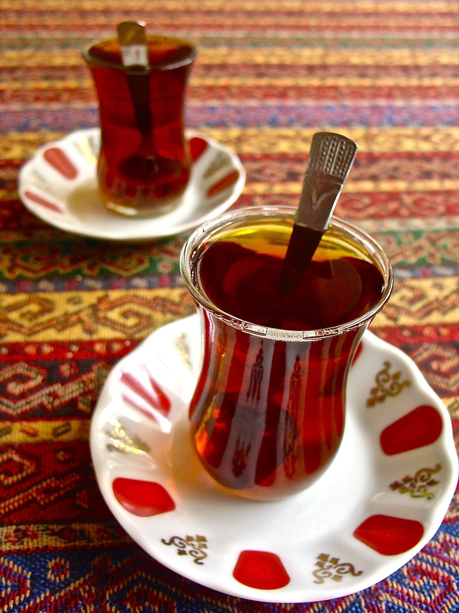 Free stock photo of red, tea, turquish