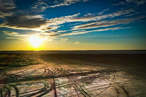 Free stock photo of sunset sky