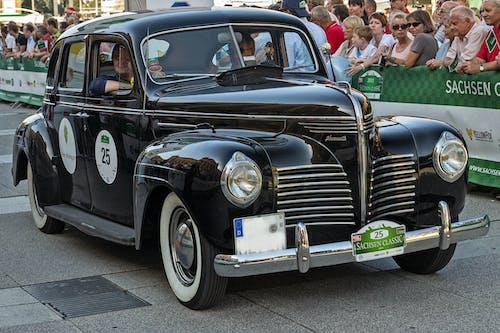 Black Classic Car on Road