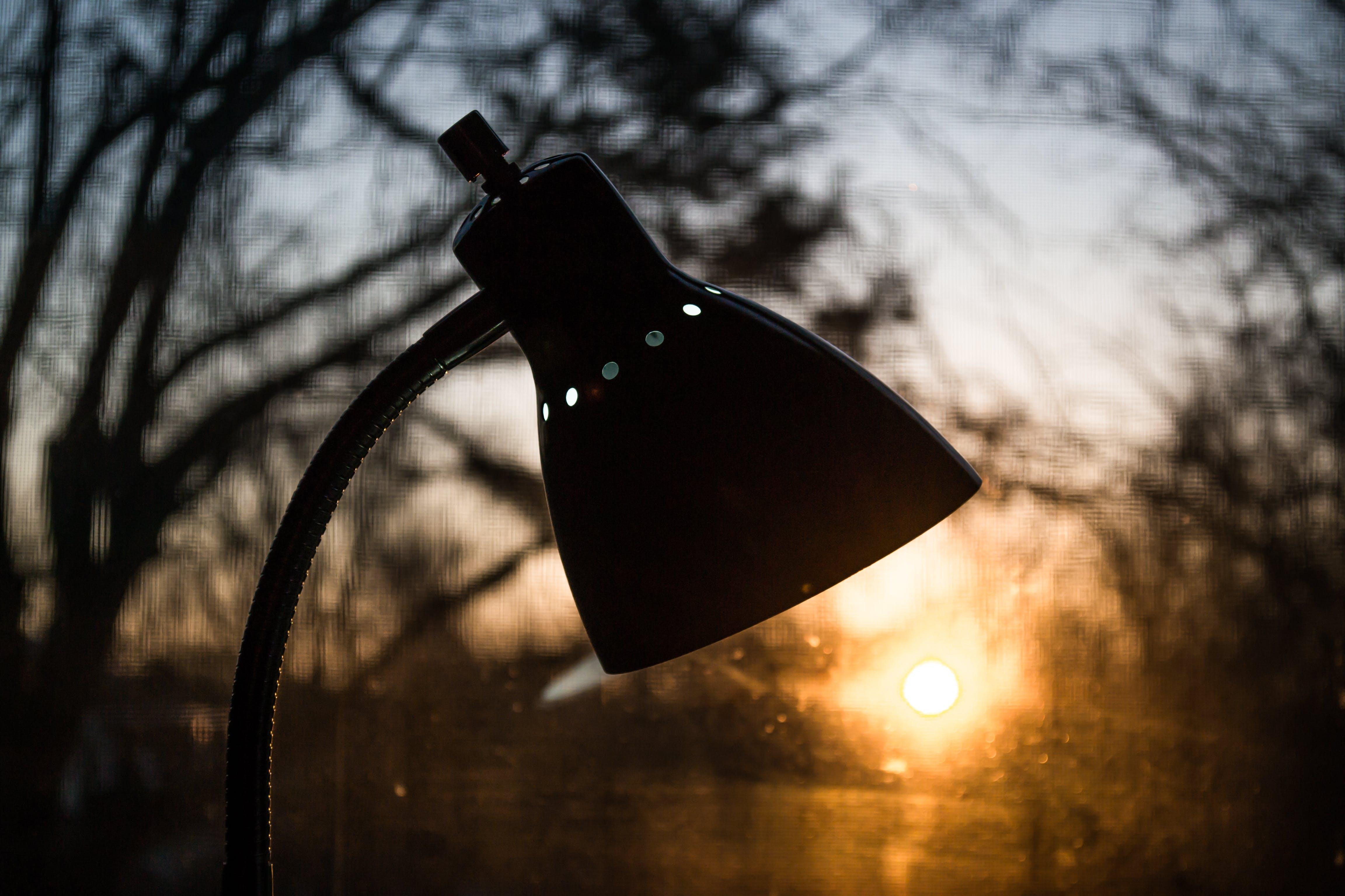 Selective Focus Photography of Task Lamp