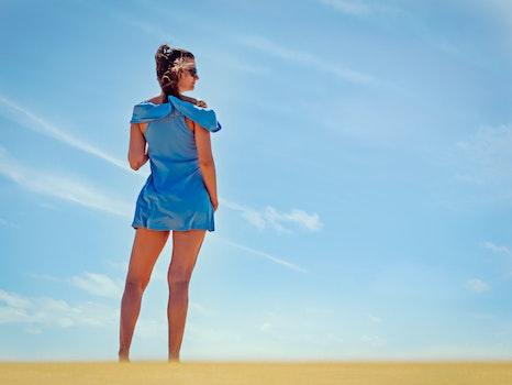 Free stock photo of sky, fashion, woman, legs