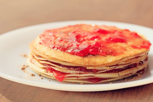 Gratis lagerfoto af delikat, mad, pandekager, slik