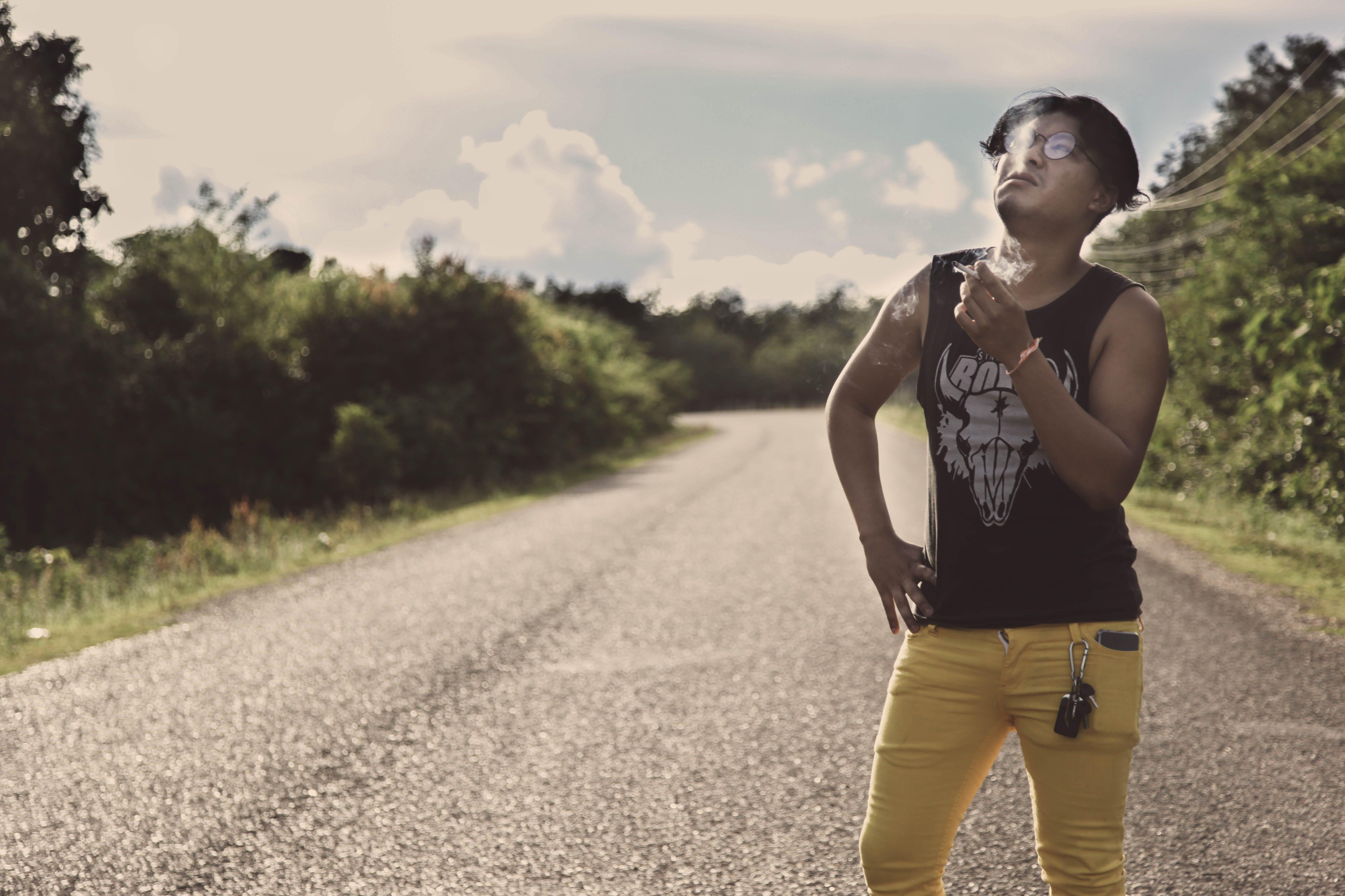 Free stock photo of indie, men, road, smoking