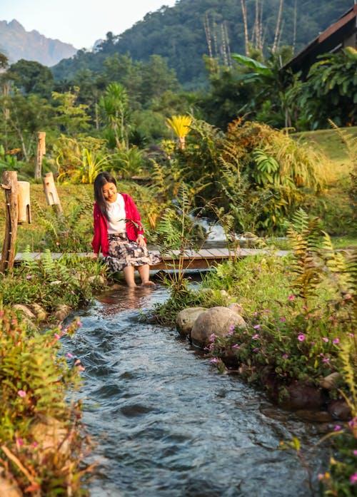 bayan, dağ, doğal, güzel içeren Ücretsiz stok fotoğraf