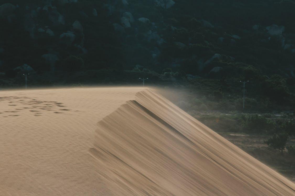 Sand Near Electric Post