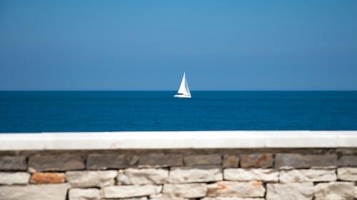 Free stock photo of boat white sailing sea puglia italy
