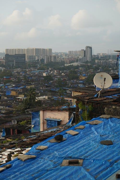 Free stock photo of india, mumbai, slum
