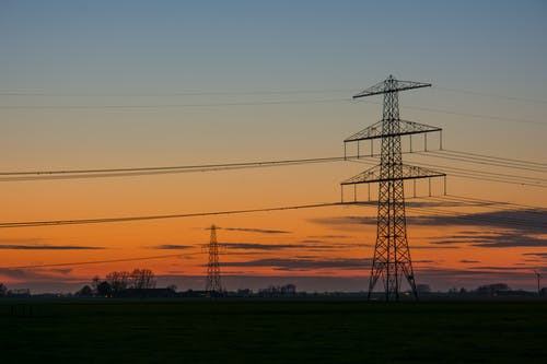 Silhouette of Electric Tower