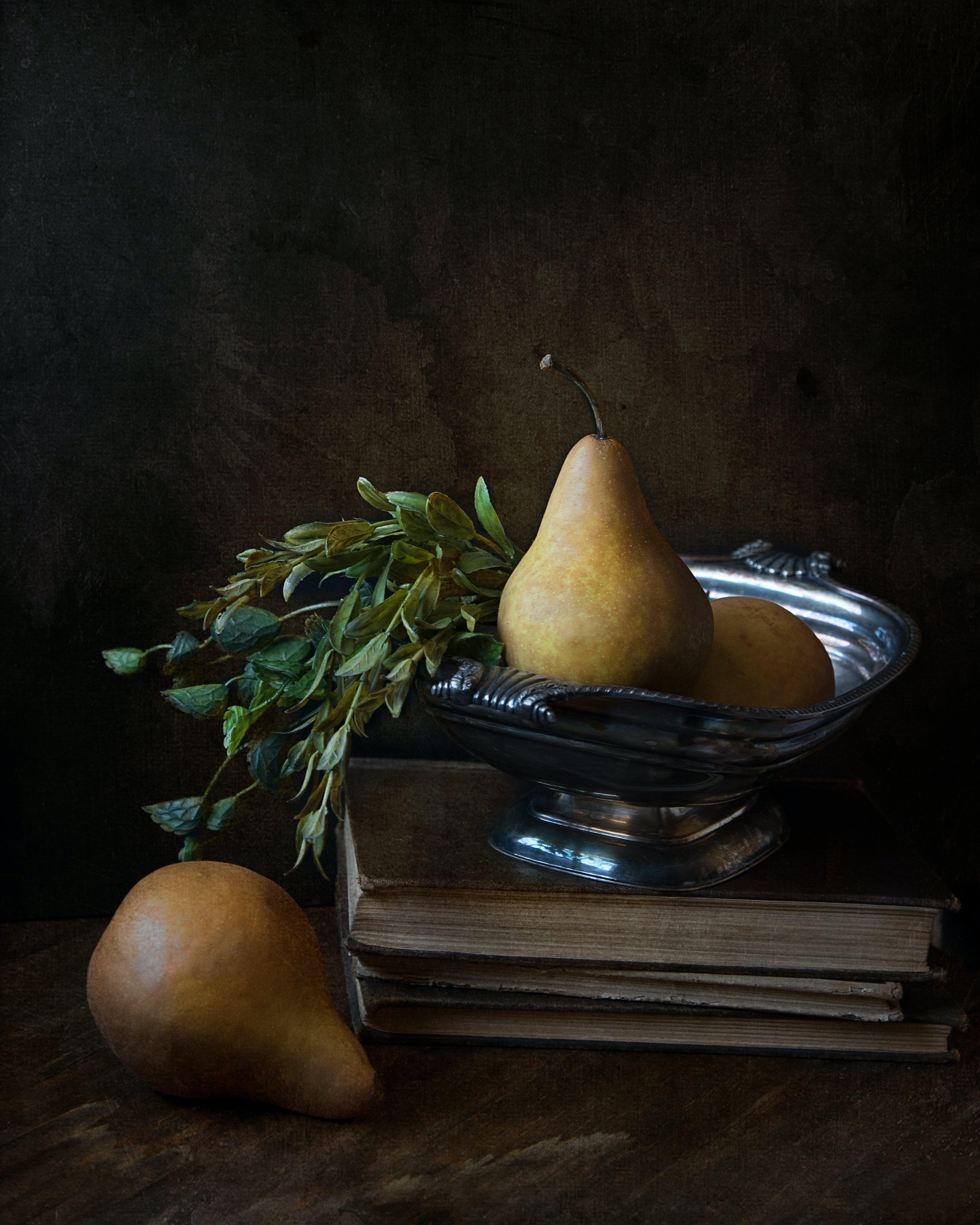 Ingyenes stockfotó élelmiszer, evőeszközök, gyümölcsök, könyvek témában