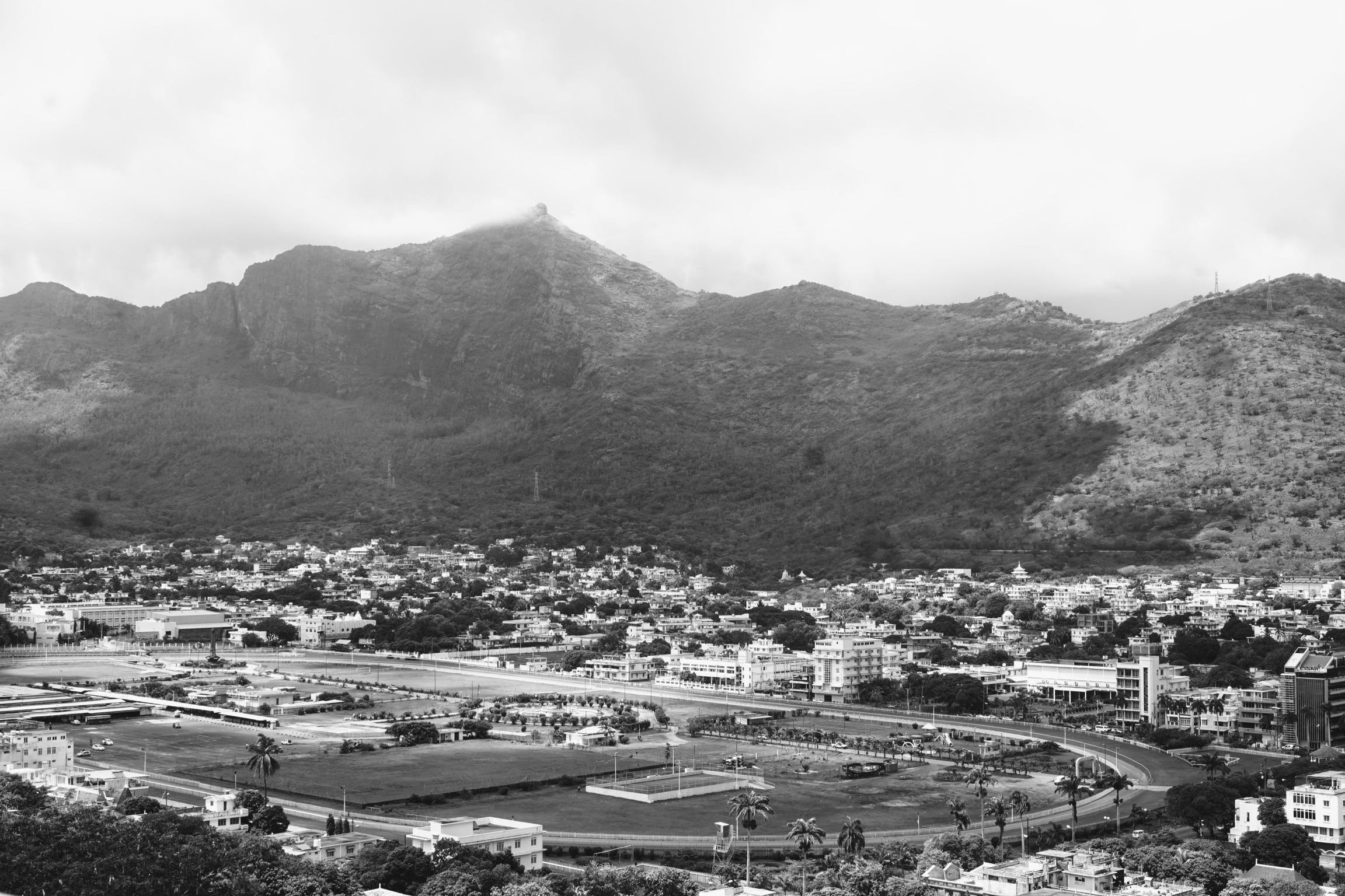 Free stock photo of city, hills, mauritius, race course