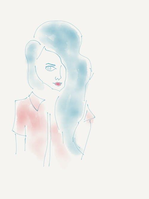 Безкоштовне стокове фото на тему «Дівчина, ескіз, мистецтво, цифрове мистецтво»