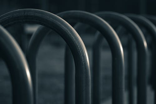 Close Up Photo of a Bicycle Parking