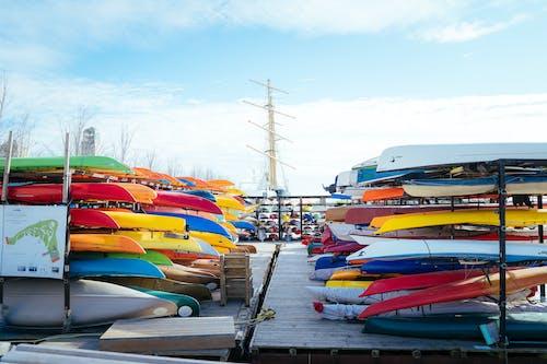 Foto d'estoc gratuïta de a l'aire lliure, barques, canoa