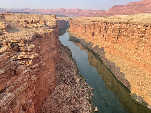 Natural Rock Formation Beside a River