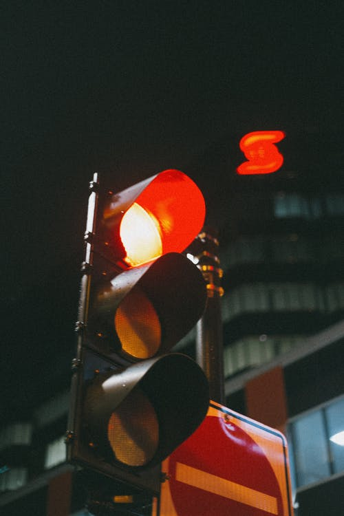 Traffic Light With Red Light