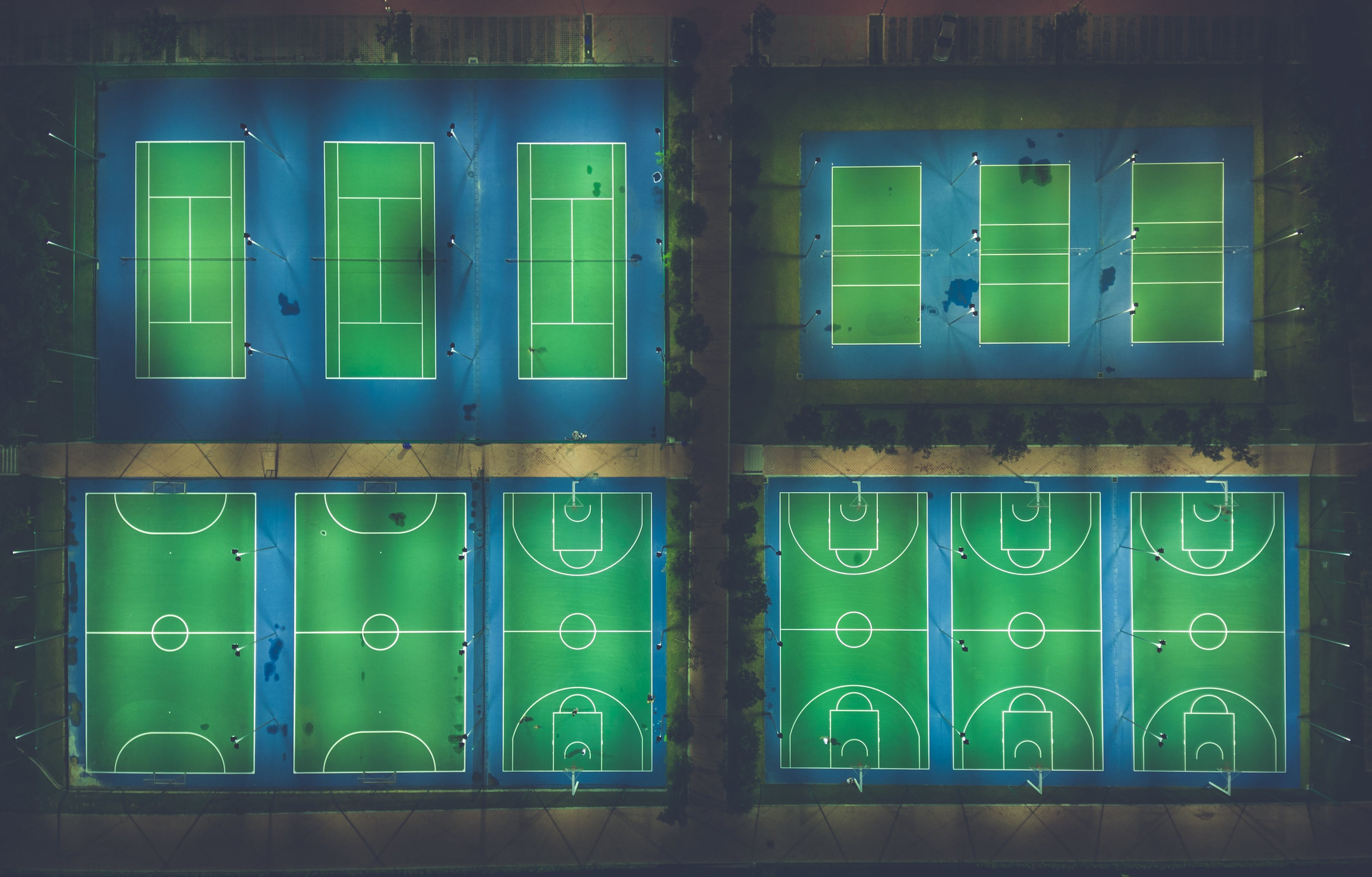 Sports Court Illustration
