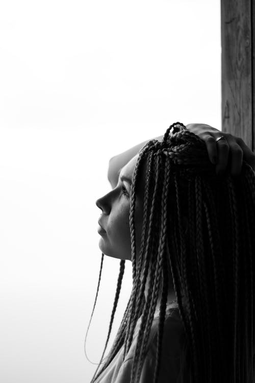 Profile of Woman with Braided Hair