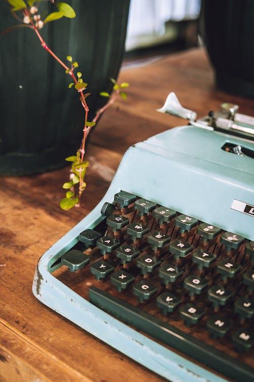 Vintage Typewriter on Wooden Surface