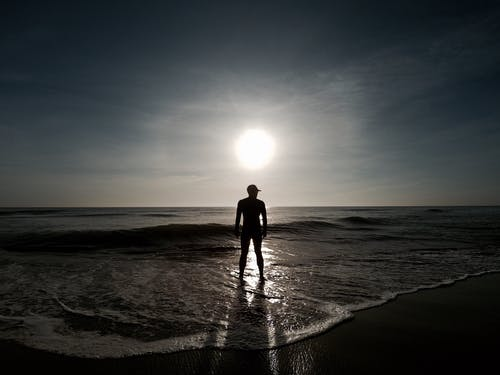 Free stock photo of beach, guy, middle