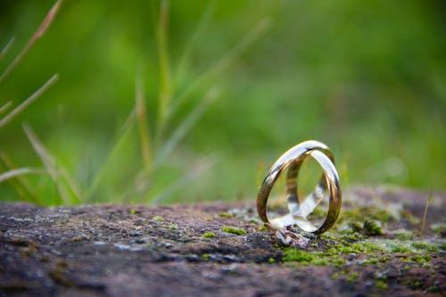 Foto stok gratis alianzas, anillos, casamiento