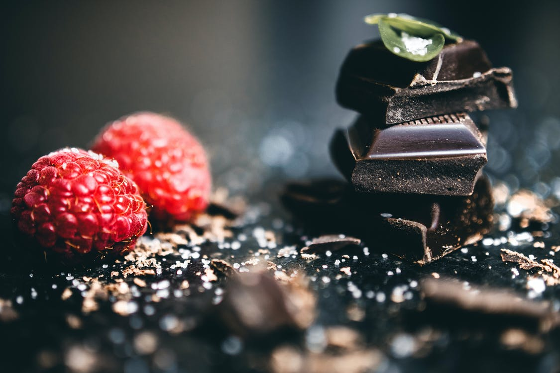 Chocolate Beside Raspberry