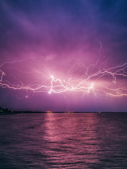 White Flashes of Lightning in the Sky