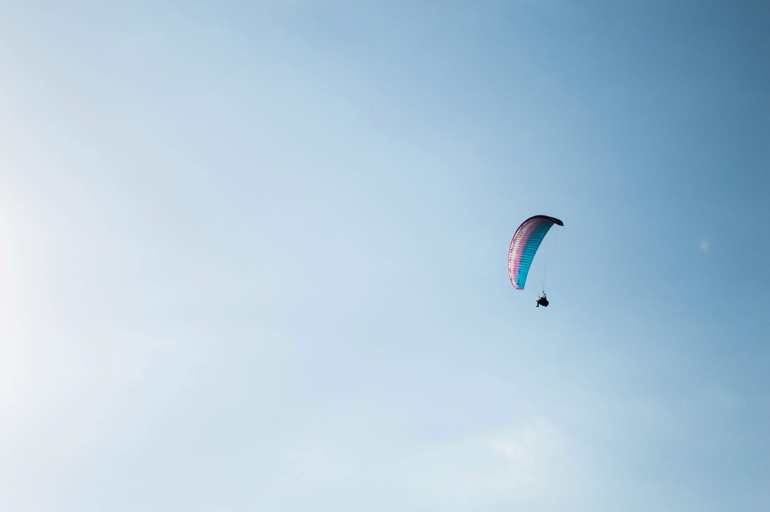 Photo of a Person Paragliding