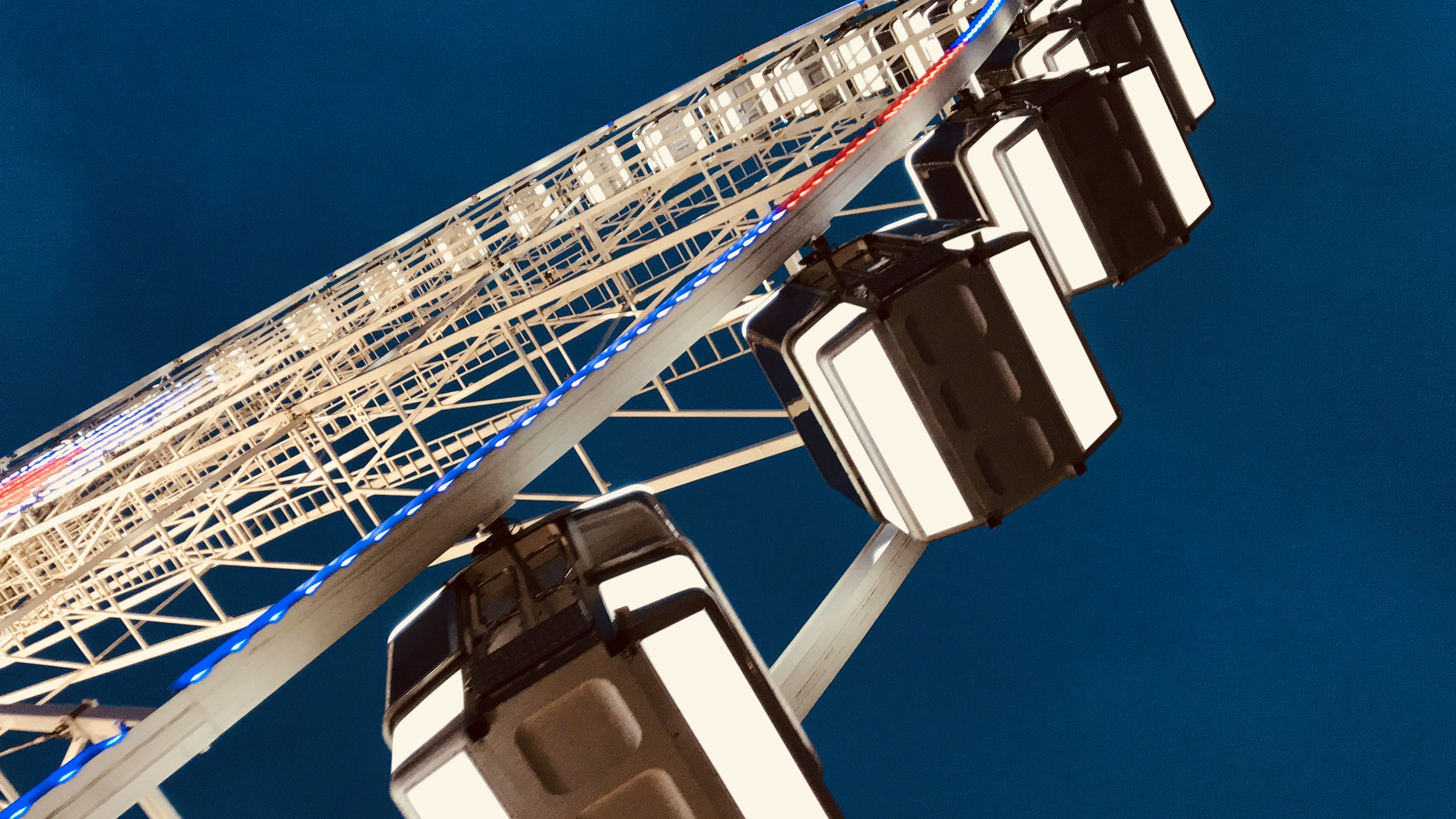 Worm's Eye View of Ferris Wheel