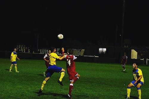 Free stock photo of ball, header, men, soccer