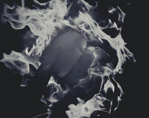 Free stock photo of art, ash, black and white, burning