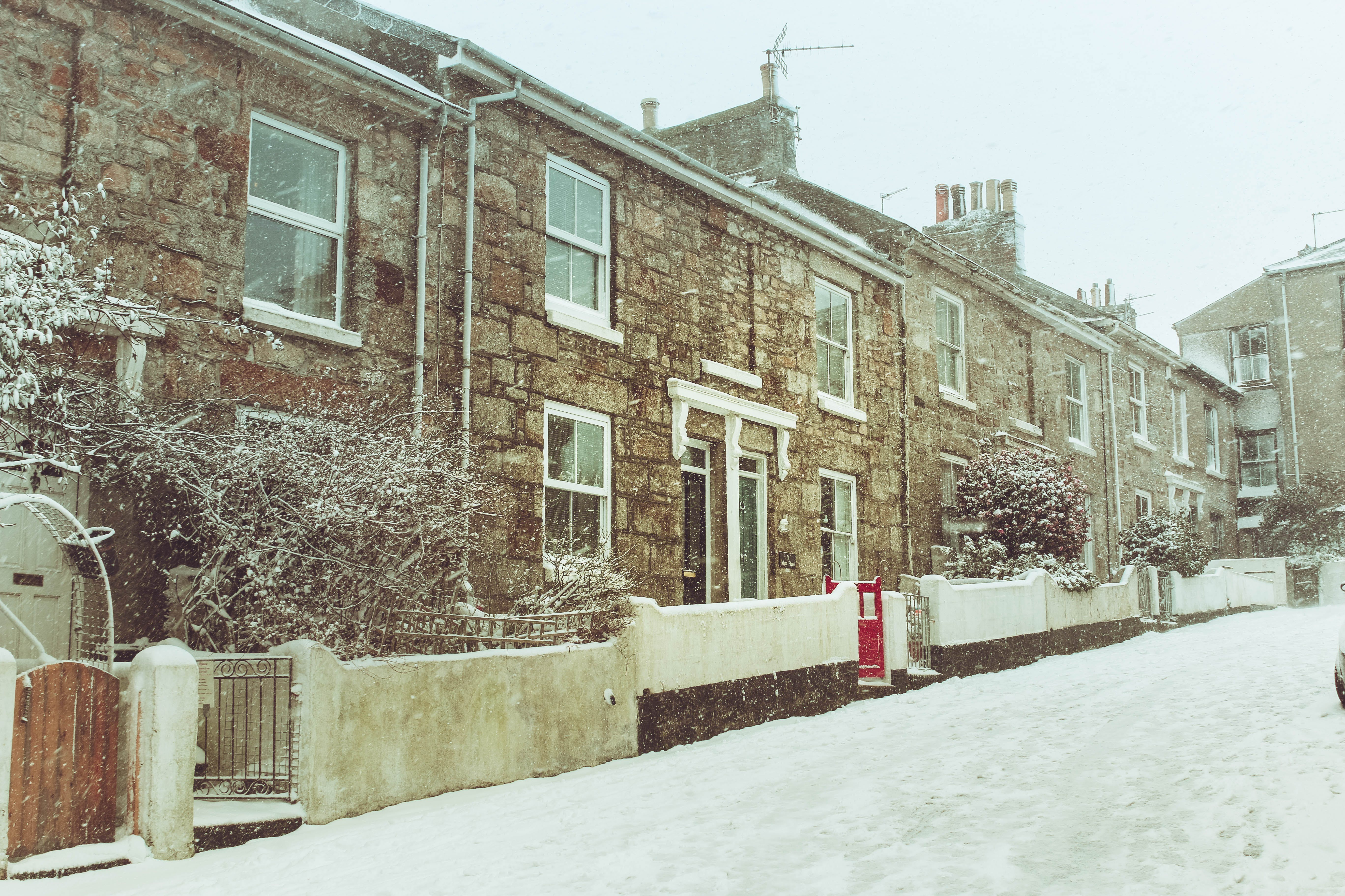 Photo of Houses During Winter