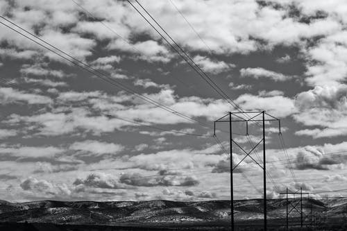 Gray Scale Photography of Cloudy Skies