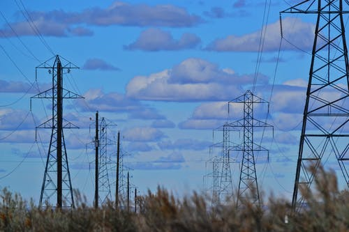 Foto d'estoc gratuïta de acer, alt, alt voltatge, cables