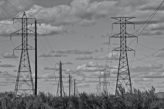 Metal Power Grid Towers