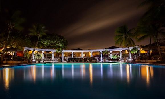 Free stock photo of night, dark, hotel, luxury