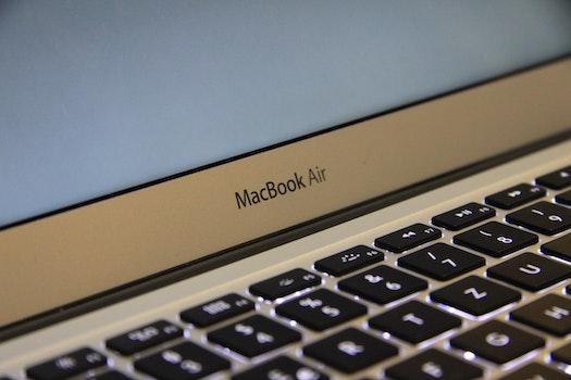 Macbook Air Grey Logo on Laptop