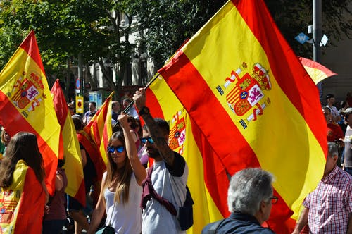 Photo of People Holding Flags