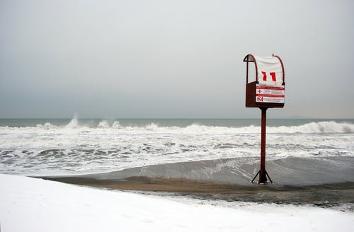 Gratis lagerfoto af bølger, hav, himmel, strand