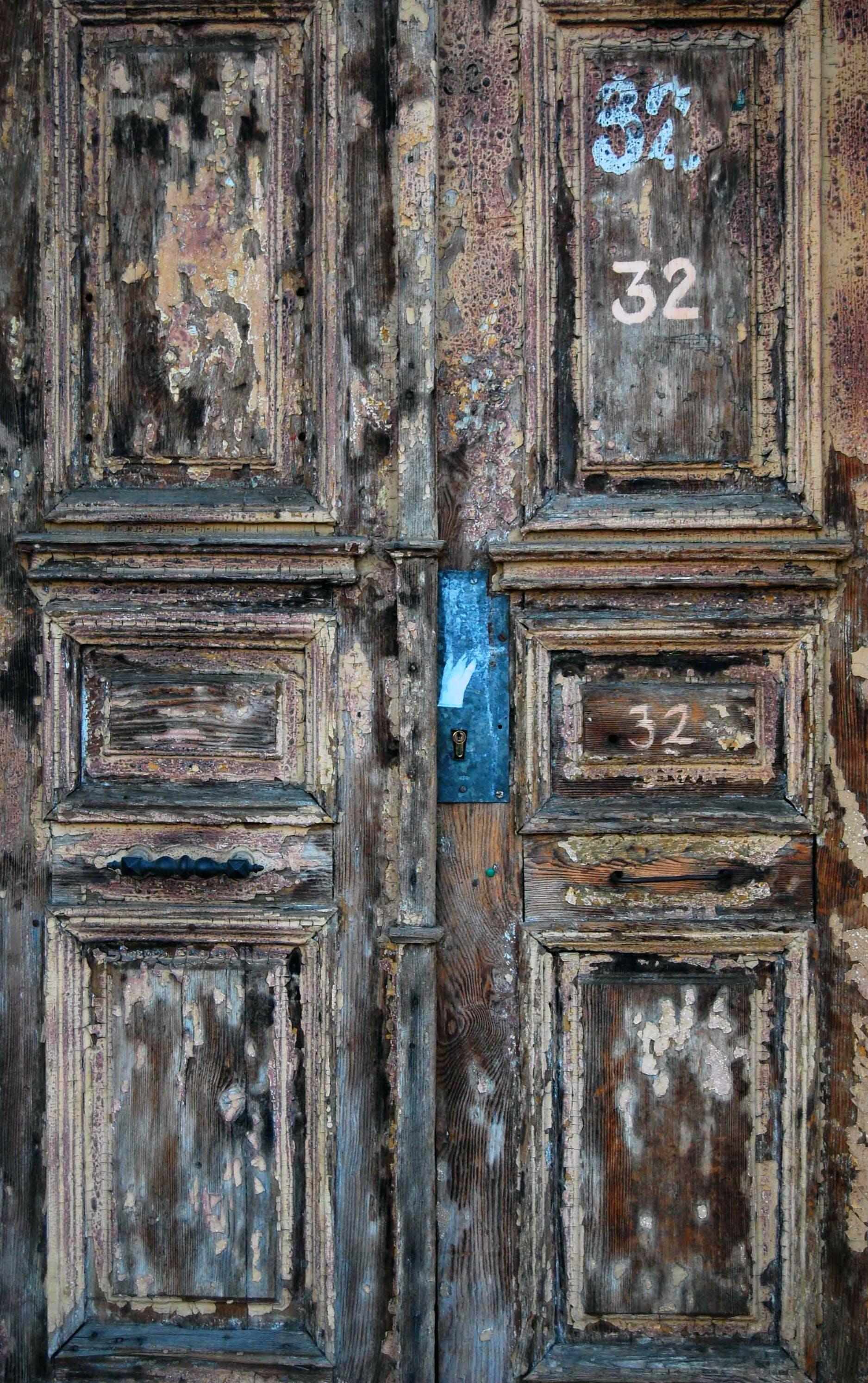 Free stock photo of 32, old door