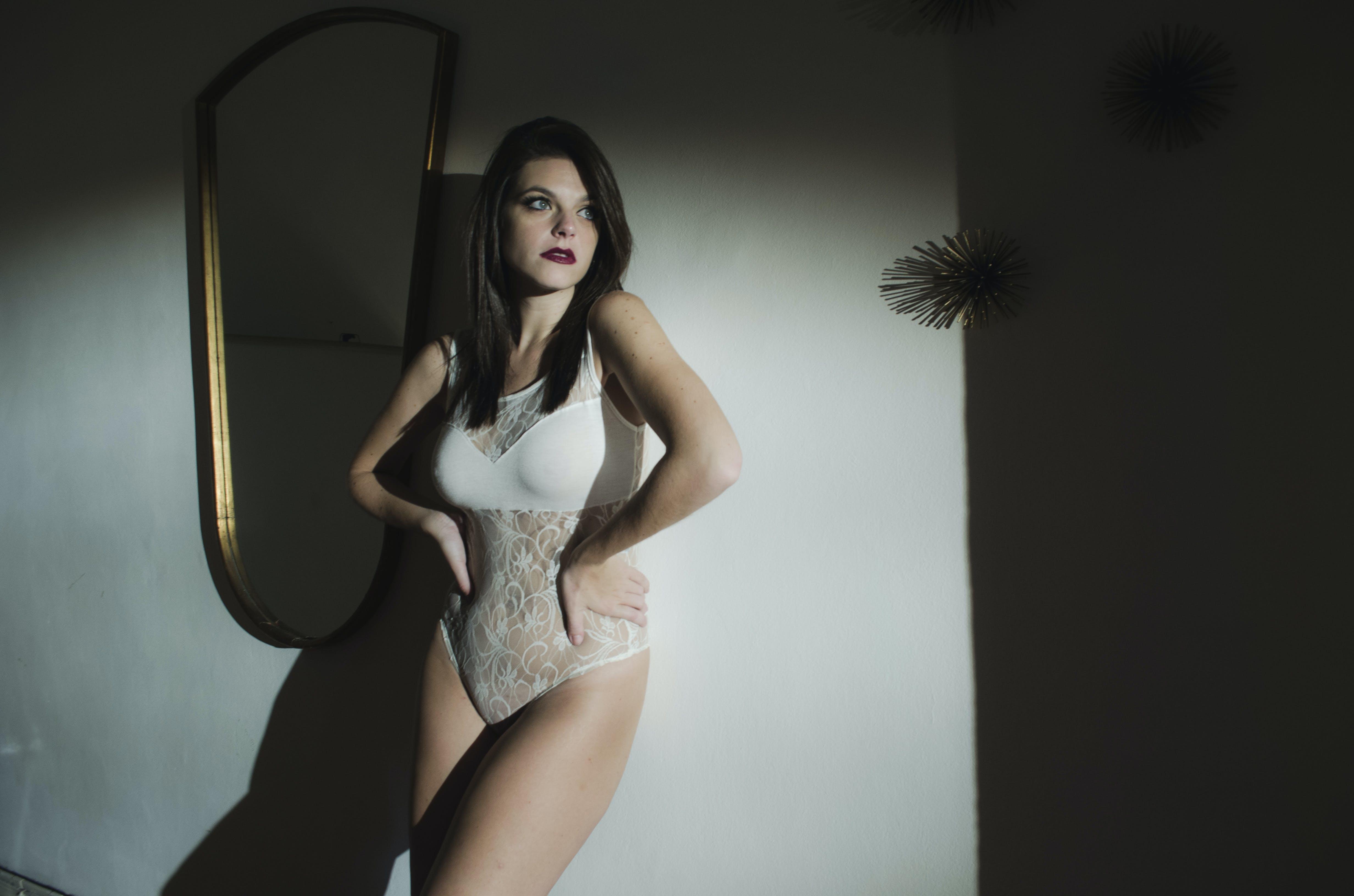 セクシー, ポーズ, モデル, ランジェリーの無料の写真素材