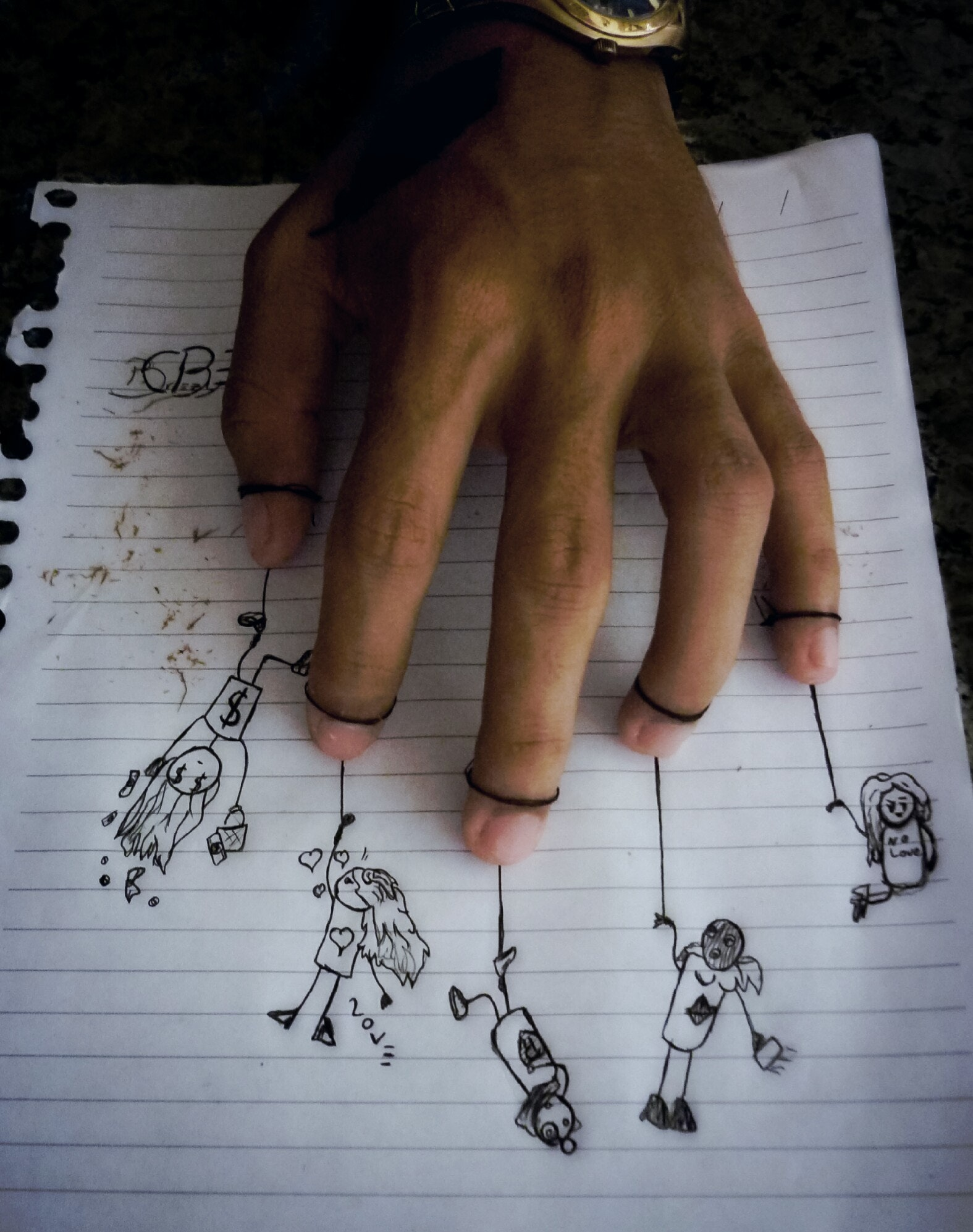 free stock photo of drawings girl hands