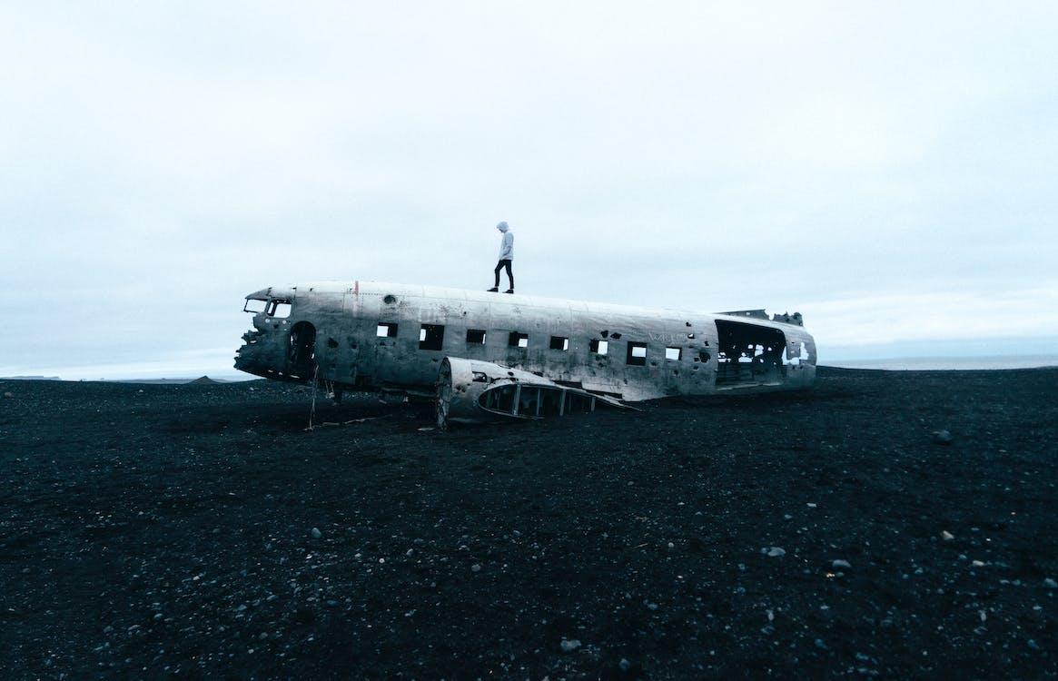abandonat, aeronavă, aeroport