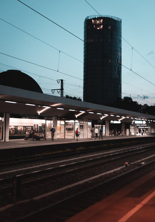 Free stock photo of evening light, night, train