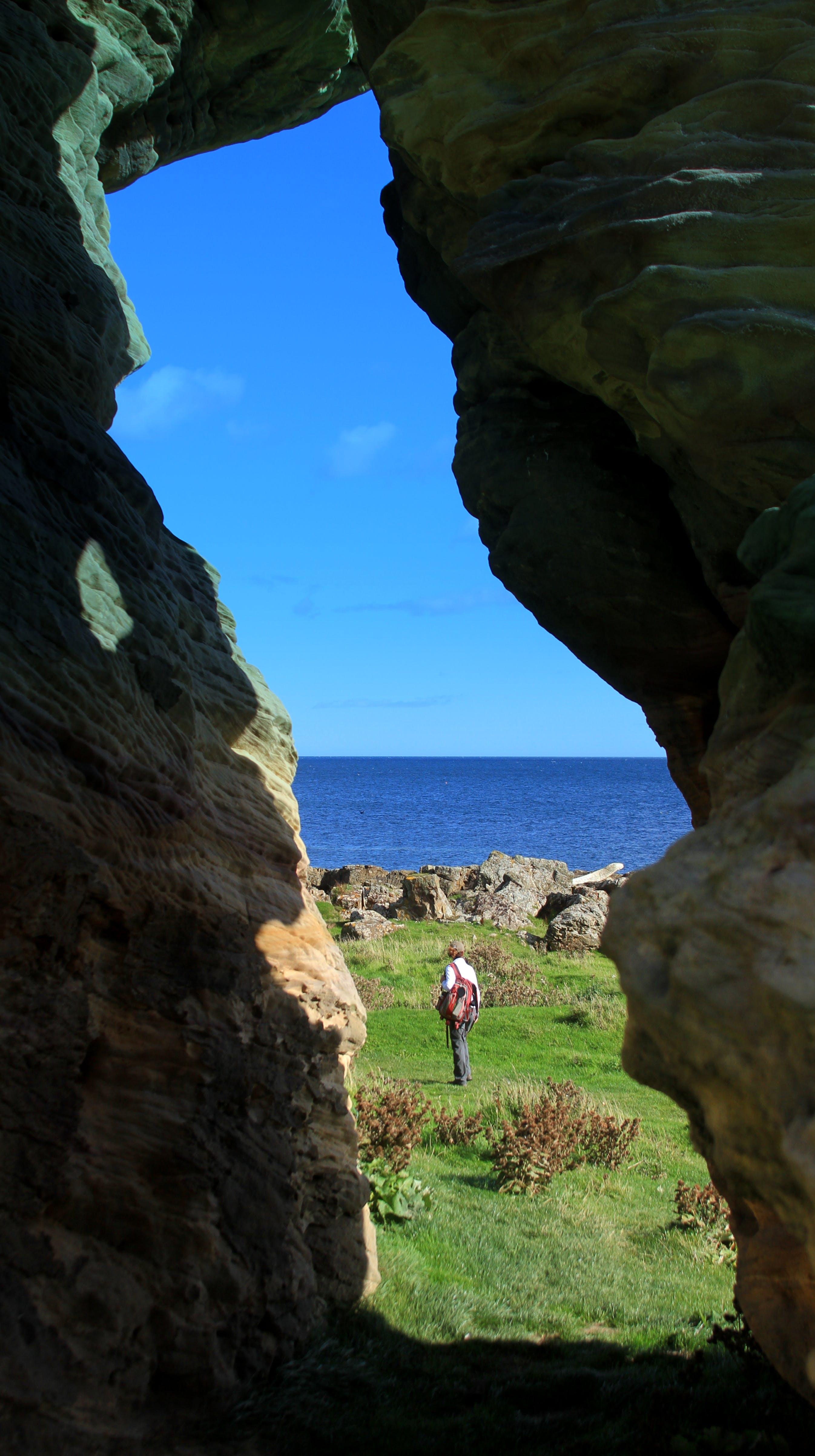Kostenloses Stock Foto zu gehhilfe, oceanside side~~pos=headcomp, wanderer, weg