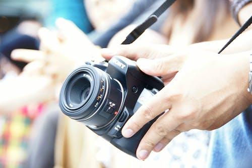 Základová fotografie zdarma na téma dslr, fotoaparát, kameraman
