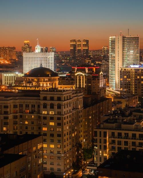 垂直拍攝, 城市, 城市的燈光 的 免費圖庫相片