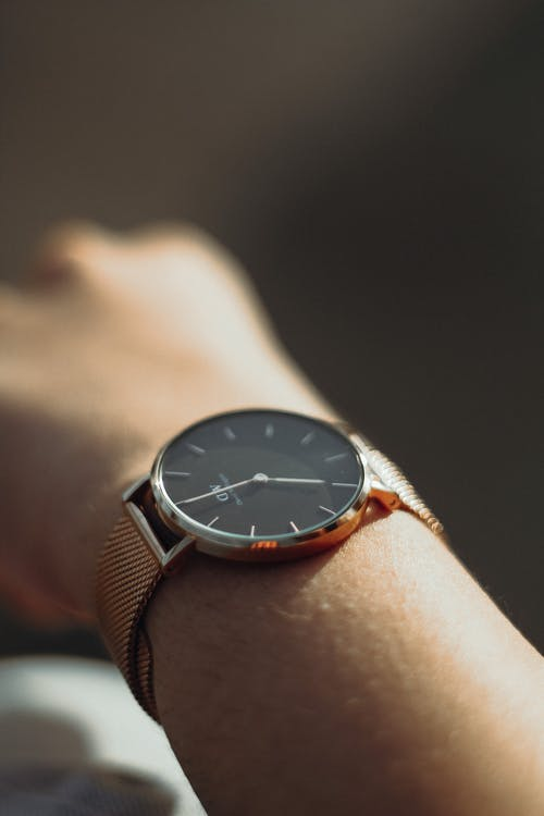 Close-Up Shot of a Person with Wristwatch