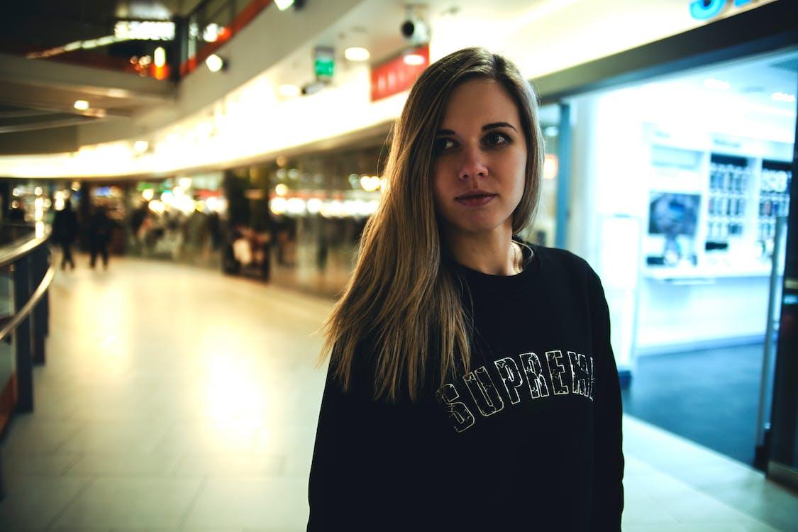 αεροδρόμιο, γυναίκα, ελαφρύς